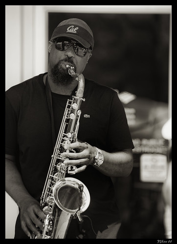 Saxaphone Player at Art on the Square - Belleville Illinois