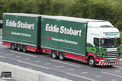 Scania R440 6x4 Curtainside with Drawbar Curtainside Trailer - PO62 XPH - Ellie Sophie - Eddie Stobart - M1 J10 Luton - Steven Gray - IMG_9527