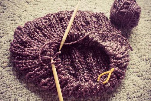 bead yarn cowl