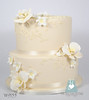 W9155-2-tier-ivory-wedding-cake-toronto-oakville