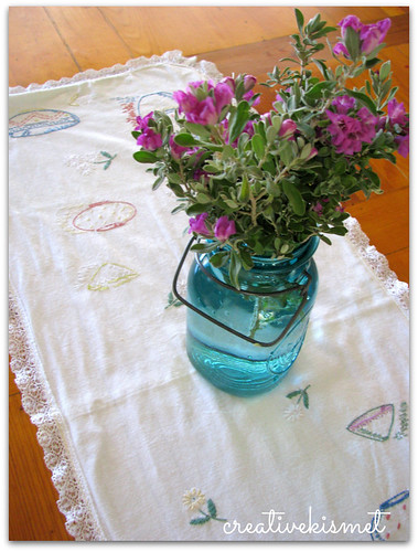 table runner from Katy