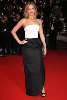 Jennifer Lawrence Monochrome Trend Celebrity Style Womens Fashion