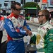 Justin Wilson and Ed Carpenter before qualifications