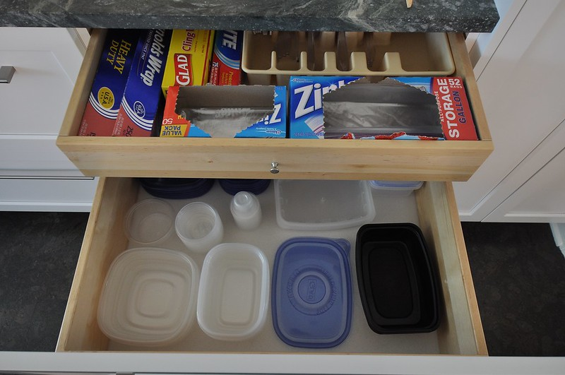 Double decker plastics drawer