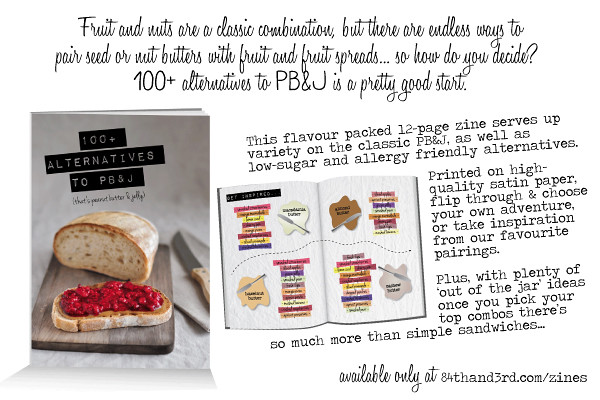 100+ Alternatives to PB&J recipe zine
