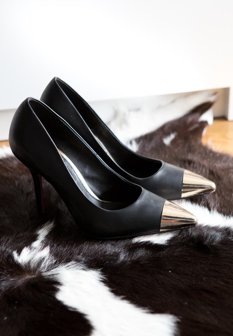 ASOS PLUTO Pointed High Heels with Metal Toe Cap