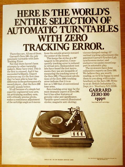 Garrard Zero 100 ad