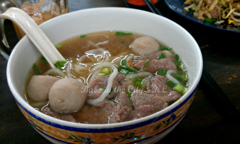 Lean meat & Beef Balls Lai Fun Soup (RM7.00)