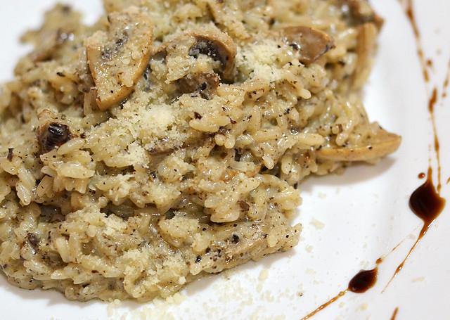 Rissotto arroz con setas