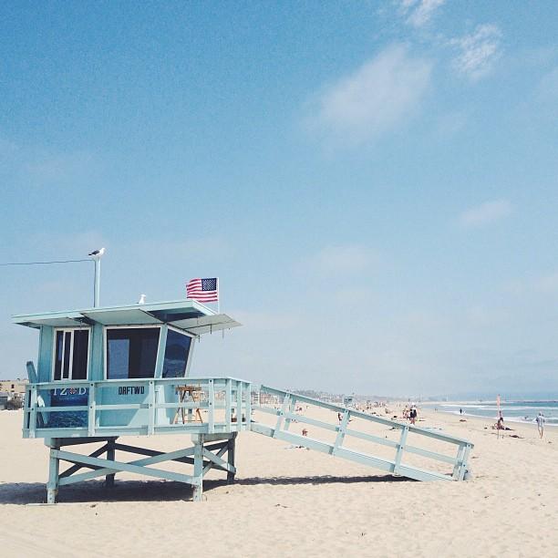 American beach.