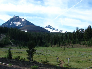 North & Middle Sister and Little Brother from Scott Meadow