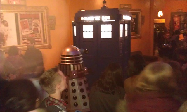 TARDIS and Dalek in the foyer at the Astor Theatre