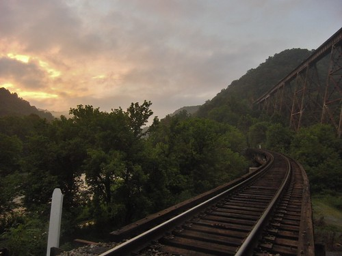 sunset csx norfolksouthern trestles clinchriver