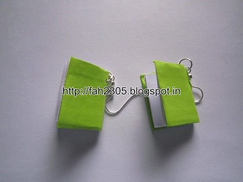 Handmade Jewelry - Paper Book Earrings (Big) (3) by fah2305