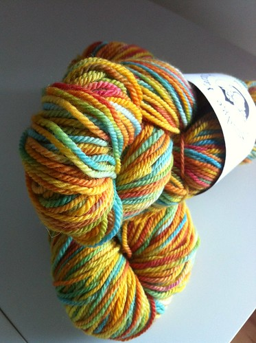 Irish yarn from Smudge Yarns Superwash DK, color way Longboard
