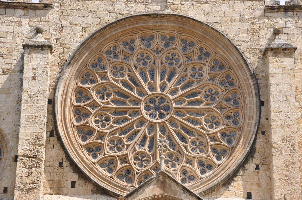Sant Cugat del Vallès. Former monastery. Rose window.