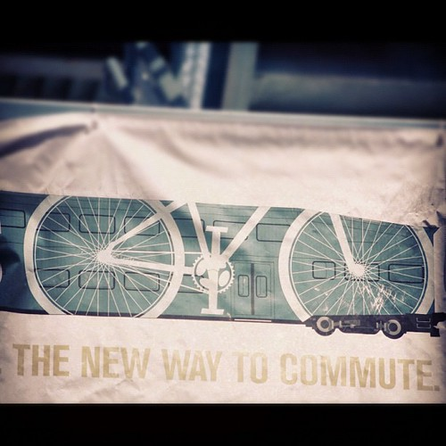 The new way to commute #bike #bicycle #cycle #train #rail #metrolink #scrra