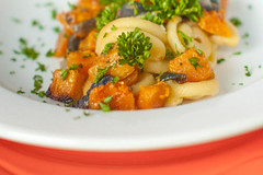 Preserved Tofu and Butternut Squash Lemon Pasta