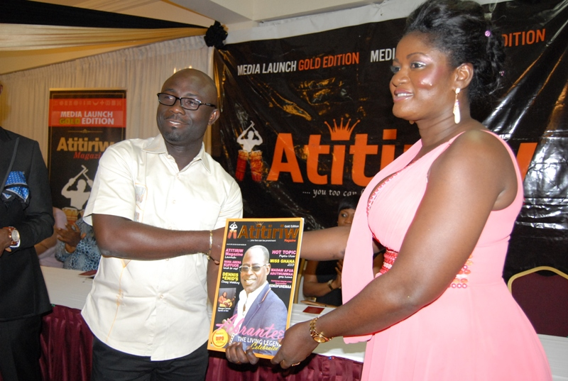 Mr. Arnold Asante buys the first copy