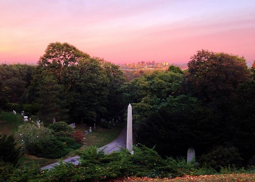 Gorgeous sunset, Mount Auburn Cemetery #Boston by BradKellyPhoto