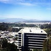 View from my hospital room. Not too bad :) You can see the headlands and the GGB.