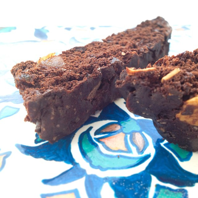 Double chocolate biscotti with almonds. The husband says I'm channeling my inner Martha Stewart!