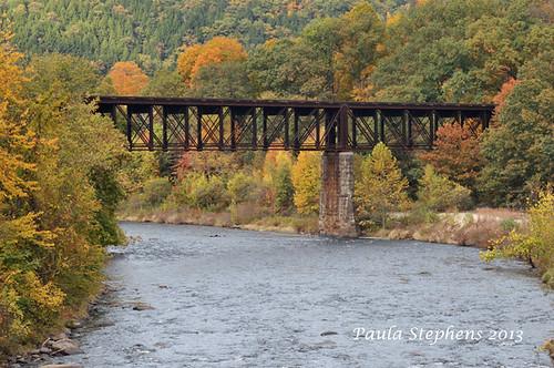 Train Bridge by Paula Stephens