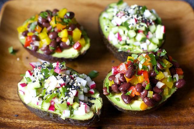 avocado cup confetti salads