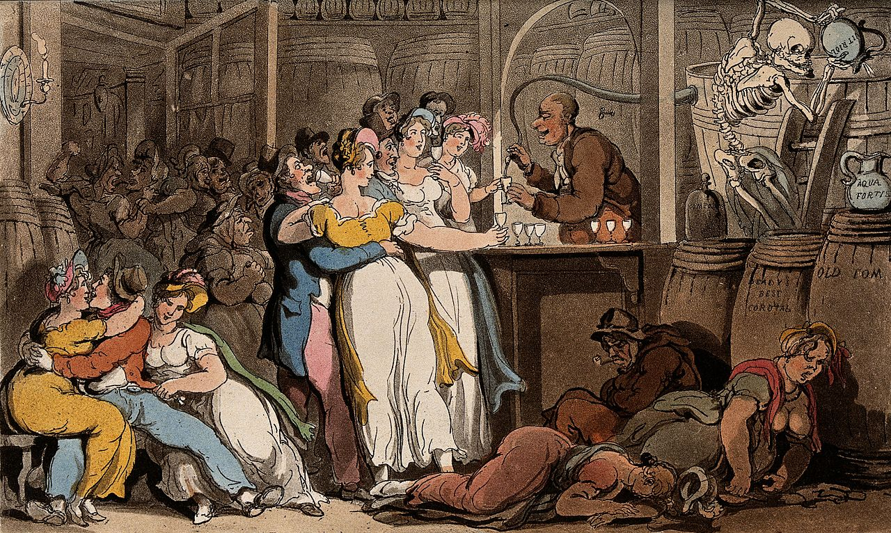 The English dance of death by Thomas Rowlandson, credit Wellcome Images