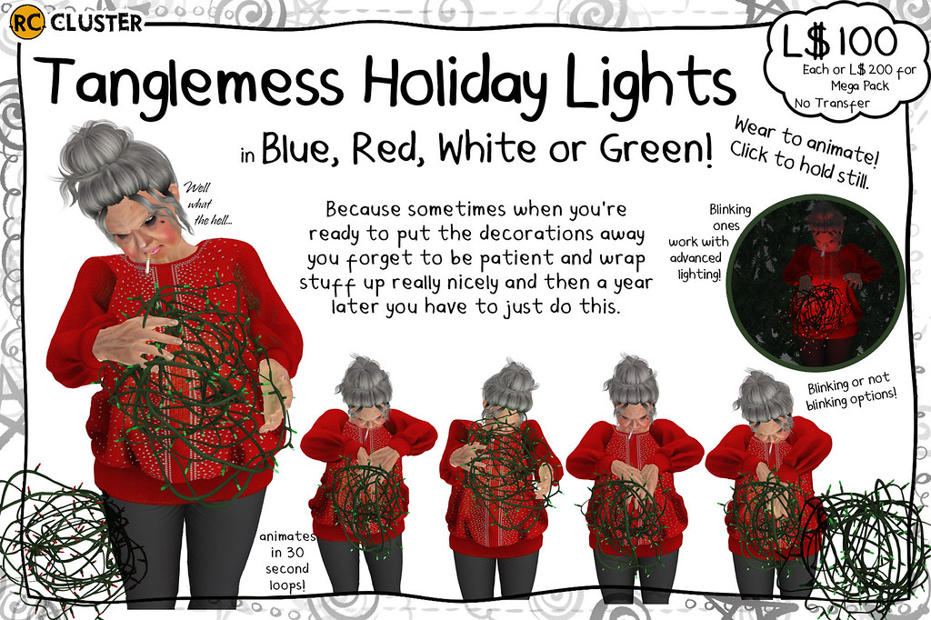 -RC- Tanglemess Holiday Lights - SecondLifeHub.com
