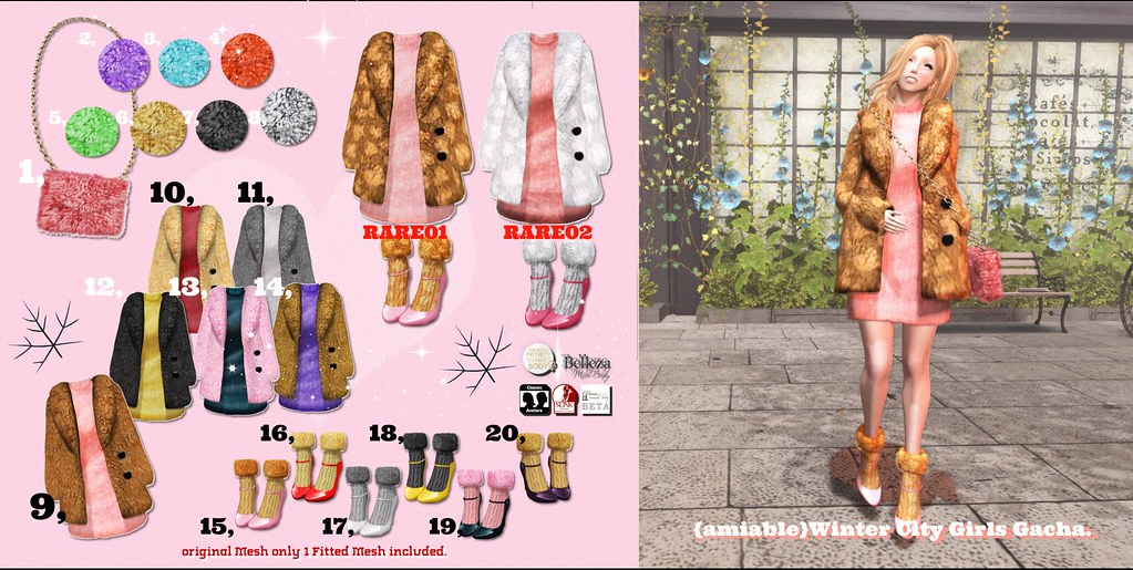 {amiable}Winter City Girls Gacha @the Chapter Four. - SecondLifeHub.com