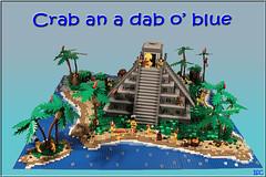 Crab an a dab o' blue