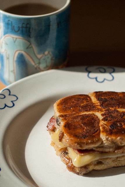 Hot Cross French Bacon Cheese Toastie 1