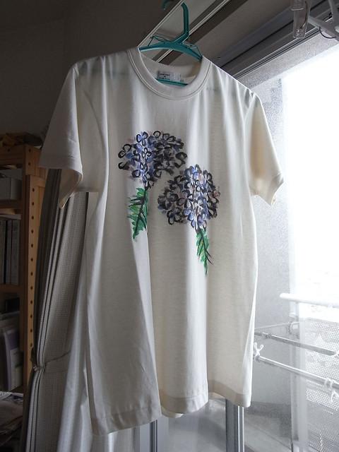 手描きTシャツ アジサイ3