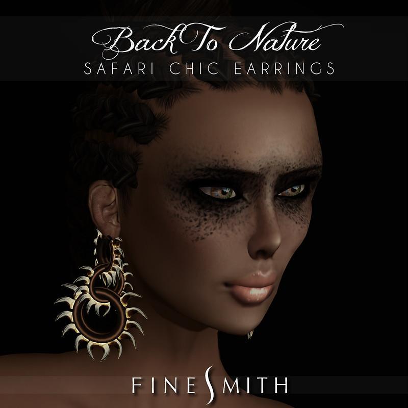 FINESMITH SAFARI CHIC earrings