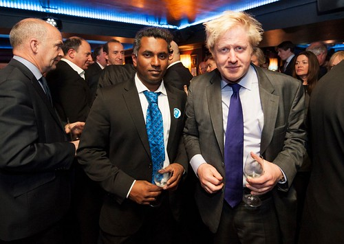 Ajit Chambers and Boris Johnson