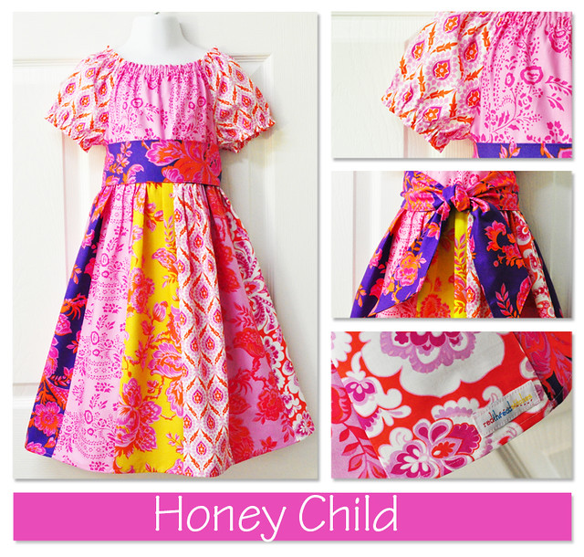 pink honey child collage