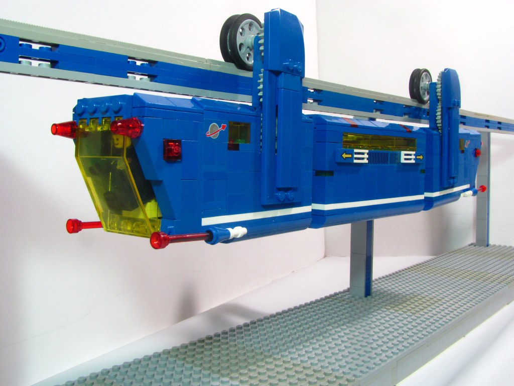 Lego Power Functions Suspended Monorail