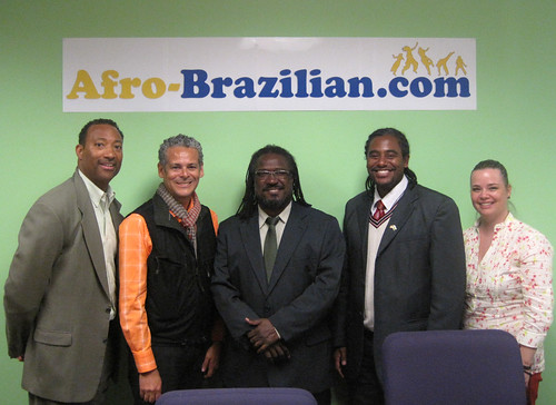 Mr. Kim L. Hunter (Afro-Brazilian.com Founder), Mr. Paulo Lima (Afro-Brazilian.com Editorial Director, Mr. Marcelo Dias, Mr. Marcio Santos, and Ms. Claudia R. Franciosi