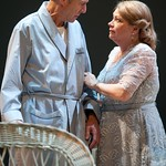 Will Lyman as Joe Keller and Karen MacDonald as Kate Keller in the Huntington Theatre Company's production of ALL MY SONS at the BU Theatre. Part of the 2009-2010 season.