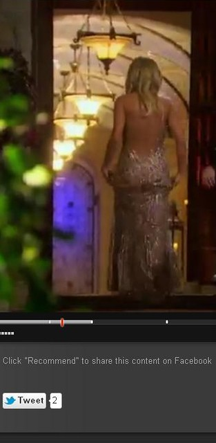 Emily Maynard back view of dress