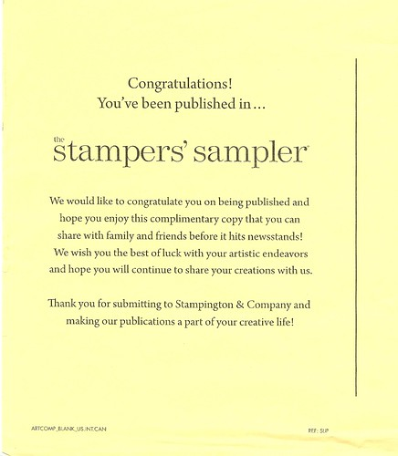 Congratulations Notice Stampers Sampler 2012