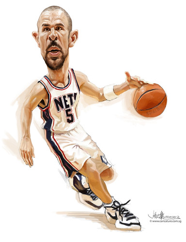 digital caricature of Jason Kidd - final
