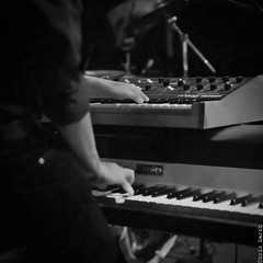 keyboard player, electronic device, musician, pianist, piano, musical keyboard, musical instrument, music, jazz pianist, monochrome photography, entertainment, monochrome, black-and-white, black,