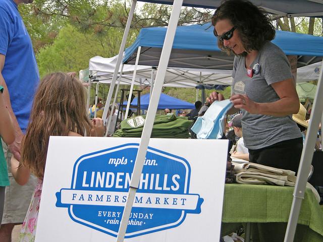 2013 Linden Hills Festival Linden hills Farmers Market booth