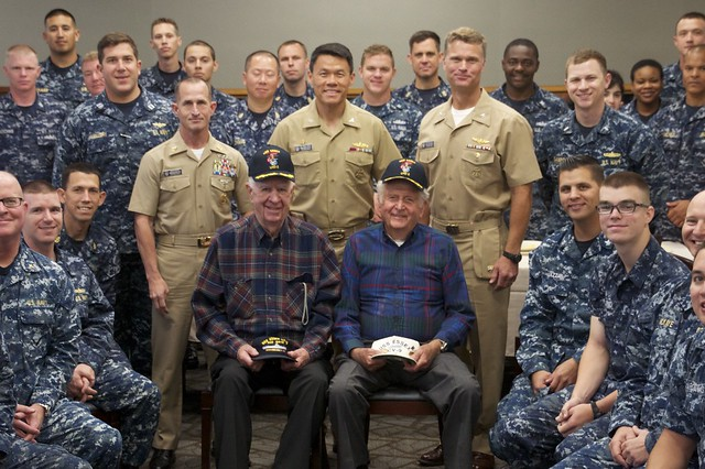 SAN DIEGO - Sailors assigned to amphibious assault ship USS Essex (LHD 2) attended a breakfast commemorating Memorial Day at the Naval Base San Diego Galley.
