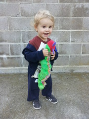 The Boy and his very hungry caterpillar.