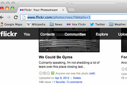 Restore Semi-Old Flickr