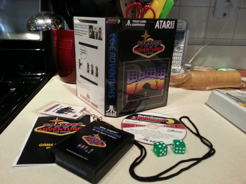 The new CGE Adventures Atari 2600 VCS cartridge.