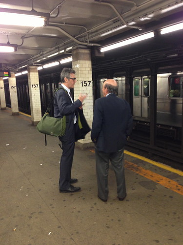 Ira Glass & Calvin Trillin, 157th St. Station, NYC